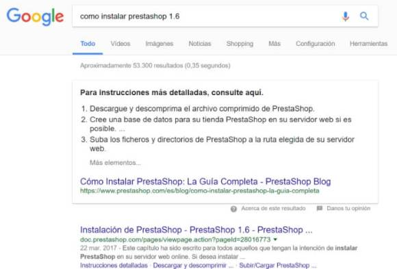 featured snippet tendencias seo 2018
